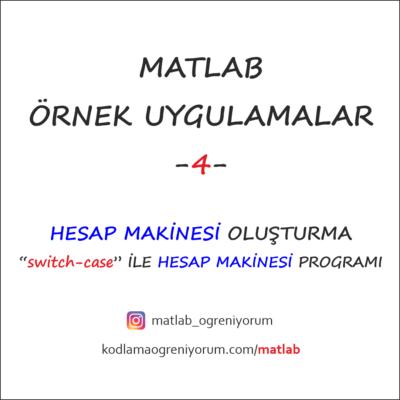 MATLAB Hesap Makinesi Programı